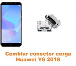 Cambiar conector carga Huawei Y6 2018