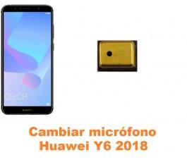 Cambiar micrófono Huawei Y6 2018