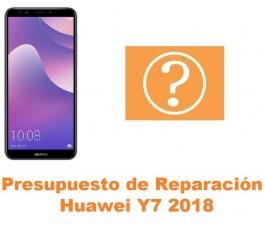 Presupuesto de reparación Huawei Y7 2018