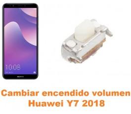 Cambiar encendido y volumen Huawei Y7 2018