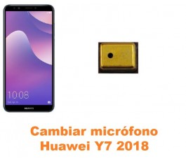 Cambiar micrófono Huawei Y7 2018