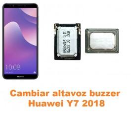 Cambiar altavoz buzzer Huawei Y7 2018