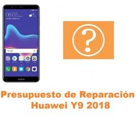 Presupuesto de reparación Huawei Y9 2018