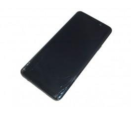 Pantalla completa con marco para Samsung Galaxy S9 Plus G965 negra CRISTAL ROTO