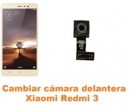 Cambiar cámara delantera Xiaomi Redmi 3
