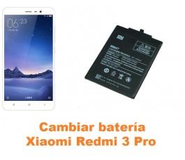 Cambiar batería Xiaomi Redmi 3 Pro