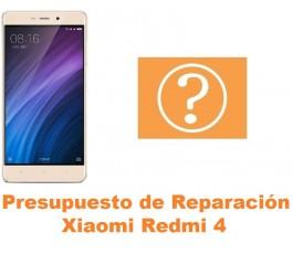 Presupuesto de reparación Xiaomi Redmi 4
