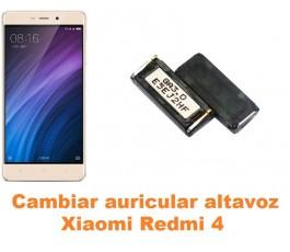 Cambiar auricular altavoz Xiaomi Redmi 4