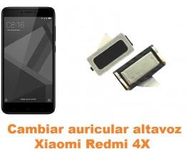 Cambiar auricular altavoz Xiaomi Redmi 4X