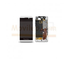 Pantalla Completa con Marco Blanco para Blackberry Z10 version 3G - Imagen 1