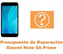 Presupuesto de reparación Xiaomi Note 5A Prime