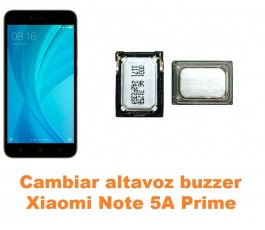 Cambiar altavoz buzzer Xiaomi Note 5A Prime