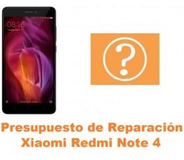 Presupuesto de reparación Xiaomi Redmi Note 4