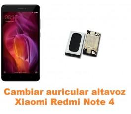 Cambiar auricular altavoz Xiaomi Redmi Note 4
