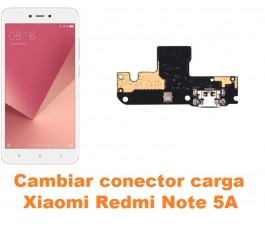 Cambiar conector carga Xiaomi Redmi Note 5A