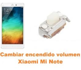 Cambiar encendido y volumen Xiaomi Mi Note