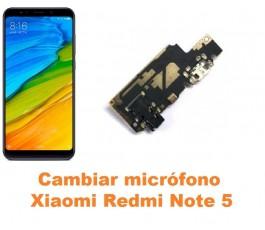 Cambiar micrófono Xiaomi Redmi Note 5