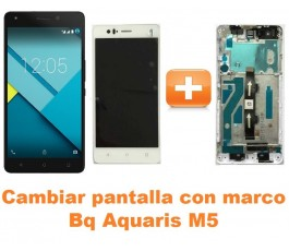 Cambiar pantalla completa con marco Bq Aquaris M5