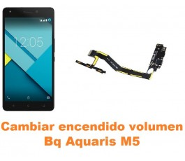 Cambiar encendido y volumen Bq Aquaris M5