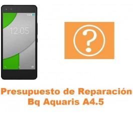 Presupuesto de reparación Bq Aquaris A4.5