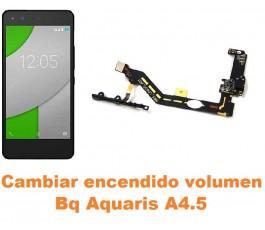 Cambiar encendido y volumen Bq Aquaris A4.5