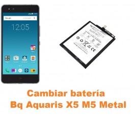 Cambiar batería Bq Aquaris X5 M5 Metal