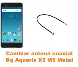 Cambiar antena coaxial Bq Aquaris X5 M5 Metal
