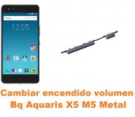 Cambiar encendido y volumen Bq Aquaris X5 M5 Metal