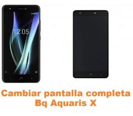 Cambiar pantalla completa Bq Aquaris X
