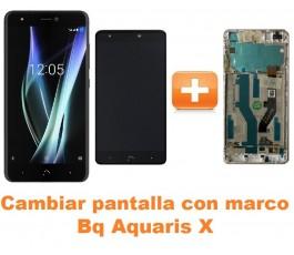 Cambiar pantalla completa con marco Bq Aquaris X