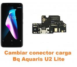 Cambiar conector carga Bq Aquaris U2 Lite