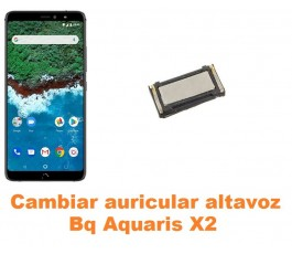 Cambiar auricular altavoz Bq Aquaris X2