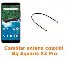 Cambiar antena coaxial Bq Aquaris X2 Pro