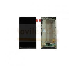 Pantalla Completa Con Marco Huawei Ascend P6 Negra - Imagen 1