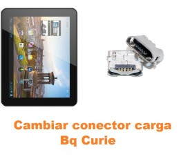 Cambiar conector carga Bq Curie