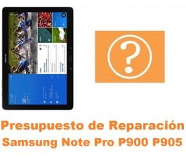 Presupuesto de reparación Samsung Note Pro 12.2 P900 P905