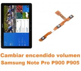 Cambiar encendido y volumen Samsung Note Pro 12.2 P900 P905