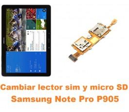 Cambiar flex lector sim y microSD Samsung Note Pro 12.2 P905