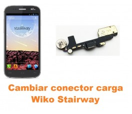Cambiar conector carga Wiko Stairway
