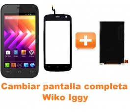Cambiar pantalla completa Wiko Iggy