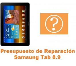 Presupuesto de reparación Samsung Tab 8.9 P7300 P7310 P7320