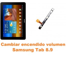 Cambiar encendido y volumen Samsung Tab 8.9 P7300 P7310 P7320