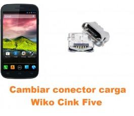 Cambiar conector carga Wiko Cink Five