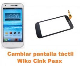 Cambiar pantalla táctil cristal Wiko Cink Peax