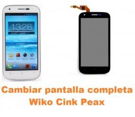 Cambiar pantalla completa Wiko Cink Peax