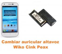 Cambiar auricular altavoz Wiko Cink Peax
