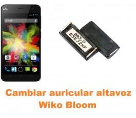 Cambiar auricular altavoz Wiko Bloom
