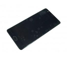 Pantalla completa con marco y huella para OnePlus 3T A3003 negra