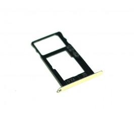 Porta tarjeta sim para Bq Aquaris X Pro dorado original
