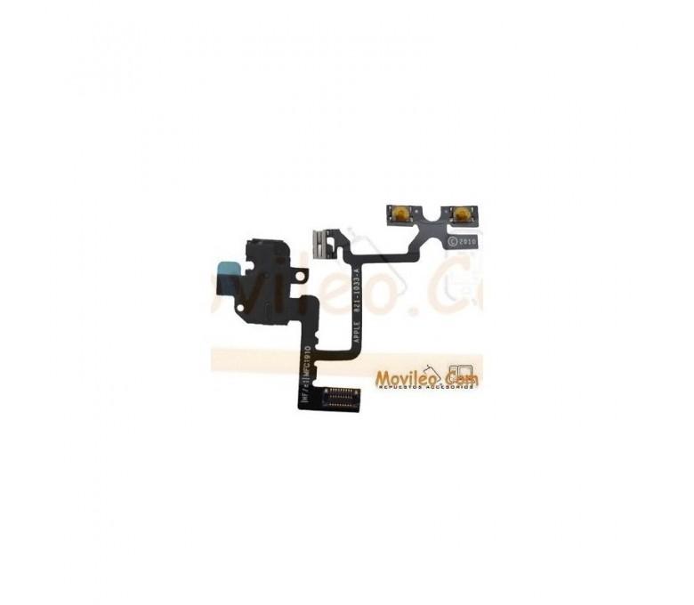 Cable flex con conector de auriculares negro para iPhone 4 4g - Imagen 1